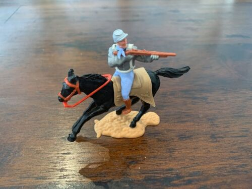Timpo 2nd Series Mounted Confederate Trooper - 1970's - Wild West Series