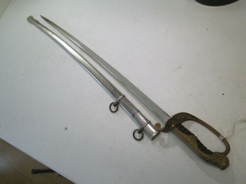 WWII JAPANESE OFFICERS PARADE SWORD WITH DOUBLE HANGERS SCABBARD SAME GRIP #N45Edged Weapons - 165599
