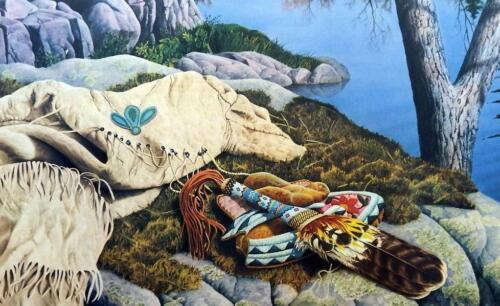"""Jerry Gadamus Brule River Morning Art Print Signed and Numbered 31"""" x 20.5"""""""