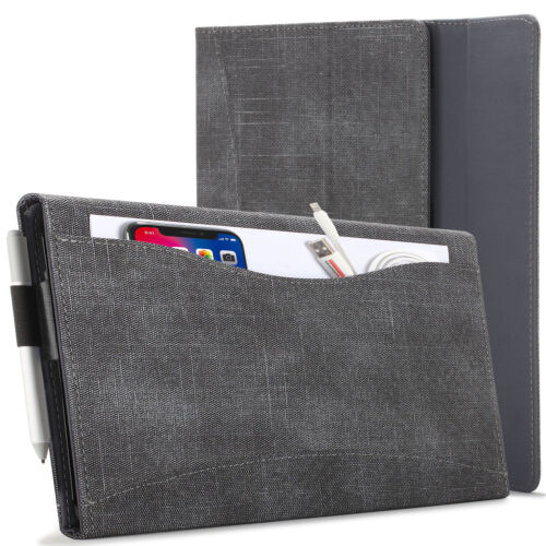 Microsoft Surface Pro 7/6/5/4 Case, Cover, Stand with Document Pocket - Black