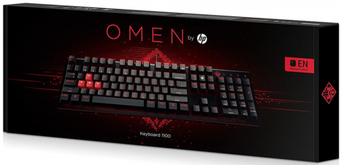 OMEN 1100 Wired USB Gaming Mechanical Black Red Keyboard Blue Switch