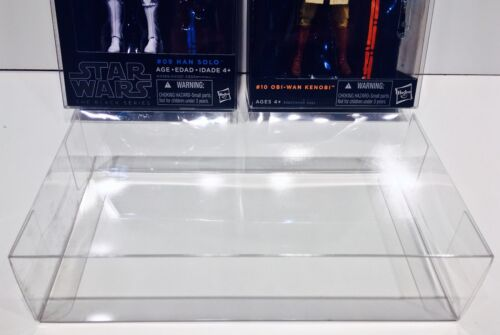 """5 Box Protectors For Star Wars Black Series 6"""" Figures with Blue/Orange Stripes"""