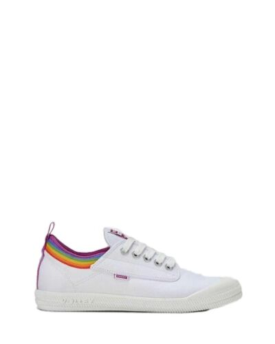 PRIDE INTERNATIONAL VOLLEYS Volley Casual Mens Womens White Rainbow LGBT Shoes