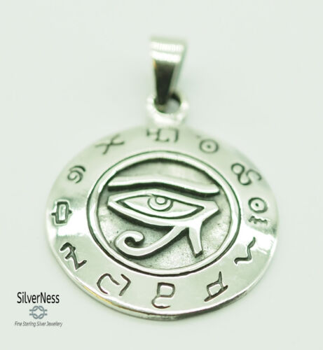 SilverNess Jewellery Eye of Horus Pendant: 925 Sterling Silver