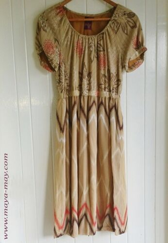Women babydoll cotton embroidered dress_beautifully made_size: 8