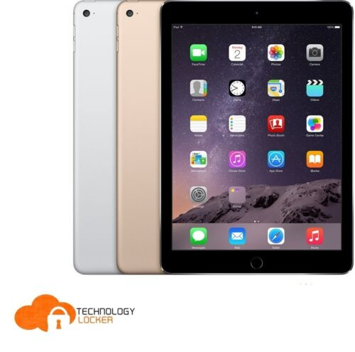 Apple Air 2 A1567 64GB Wi-Fi + Cellular 9.7' eBook Tablet + New Charger & Earbud
