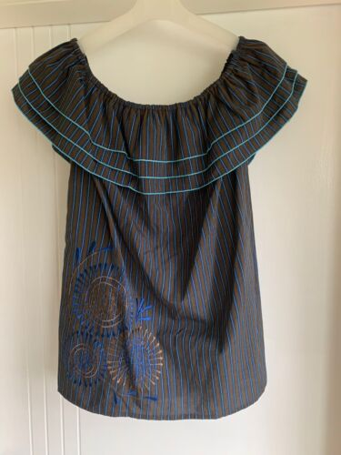 Womens off shoulder tops, Beautifully Made Cotton Embroidery, Size 10, NEW <br/> Maya May Collection, Designed in Australia