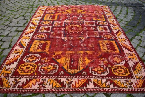 Marvelous Antique Rug West Anatolian Awesome Collector's Piece Distressed Rug