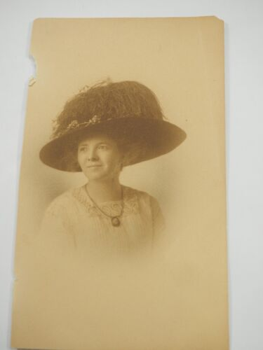 """I Rented the hat Just for this Photo Victorian Photo 3.25 x 5.5"""""""