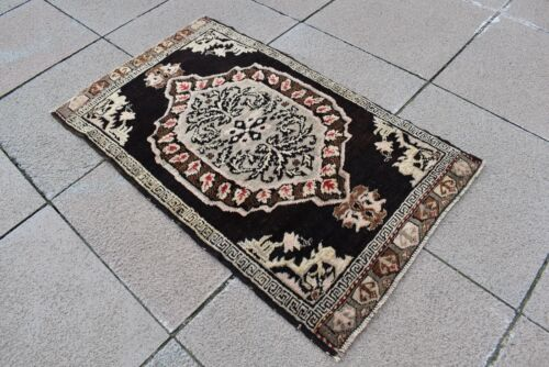 Marvelous Antique Rug 1'7 x 2'8 ft. Rare Awesome Collector's Piece Anatolian Rug