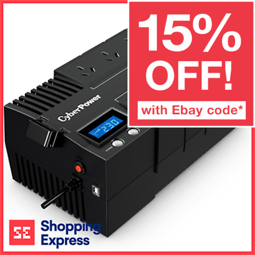 Cyberpower 1000VA 600W UPS 8 Outlets Powerboard Style USB Backup Power Supply