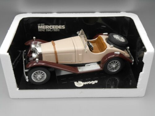 Voiture Mercedes Benz SSKL 1931 beige, marron - Bburago