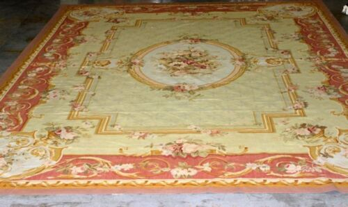 "Antique French Aubusson Wool Rug  Palace Size 19' 10 1/2""x 13' 8"""