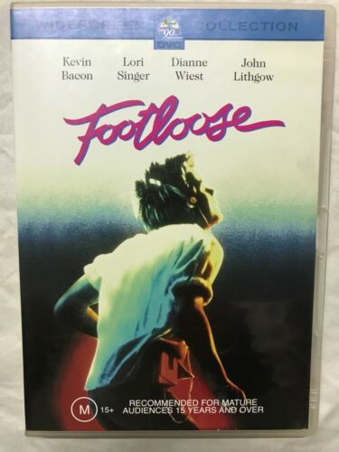 DVD Movie Film R4 Kevin Bacon Footloose Classic Vintage Dance
