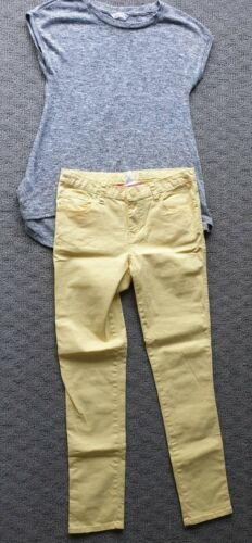 Girls Size 12 Pink Sugar Yellow Jeans With Grey Supre Top Size Xxs