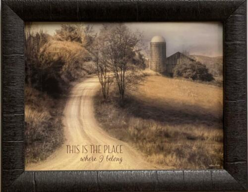 Lori Deiter This is where I belong Country Art Print-Framed