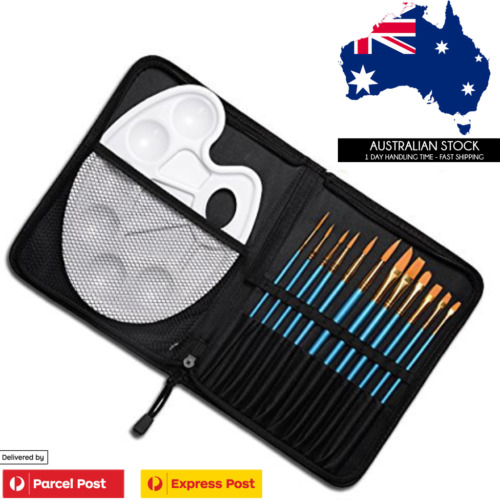 Conda 12 Piece Artist Fine Paint Brushes Set With Palette & Carrying Case brush <br/> ✔Sydney Pickup Option ✔HotSale✔Back in Stock✔Top Brand
