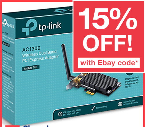 TP-Link Network Card Archer T6E AC1300 Wireless AC Dual Band PCI Express Adapter