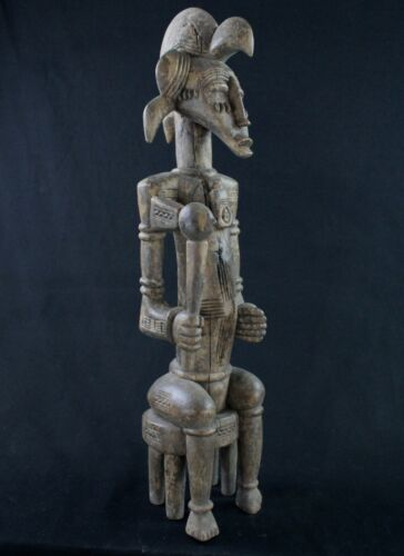 Art African Arts First - Large Statue Of Guardian Of Poro Senoufo - 70 CMS