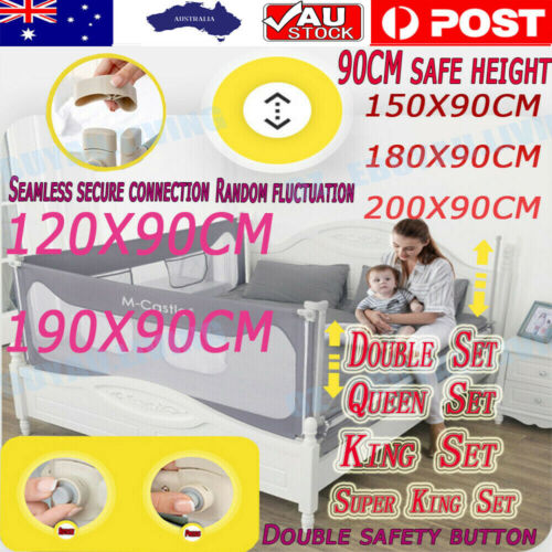 Adjustable Folding Kids Safety Bed Rail/BedRail Cot Guard Protecte Child Toddler <br/> Determine the size of the bed frame at purchase