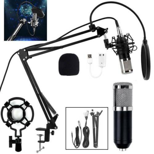 BM800 Condenser Microphone Kit Studio Suspension Boom Scissor Arm Stand AU SHIP