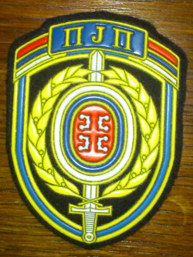 SERBIA SPECIAL POLICE UNITS PJP ARM EMBLEM PATCH PLASTIC RUBEROther Militaria - 135