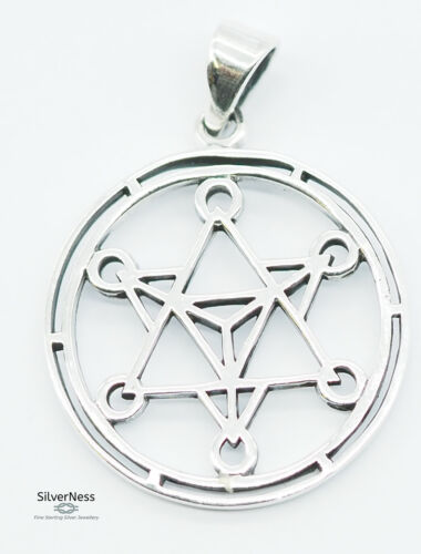 SilverNess Jewellery Metratron Pendant: 925 Sterling Silver