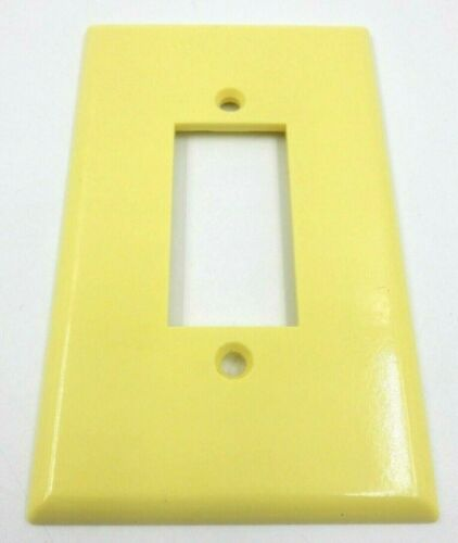VINTAGE YELLOW LEVITON CENTURA PUSH BUTTON SWITCH WALL COVER ~ NEW OLD STOCK