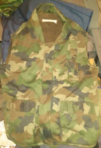 SERBIA YUGOSLAVIA MILITARY CAMO WINTER VEST WAISTCOAT M-93 for height 178 cmOther Militaria - 135