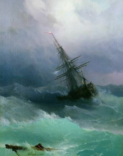 Ivan Aivazovsky Storm Fine Art Print on Canvas Home Decor Painting Giclee SMall