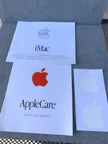 apple imac User Guide, icare Book & Stickers 2001