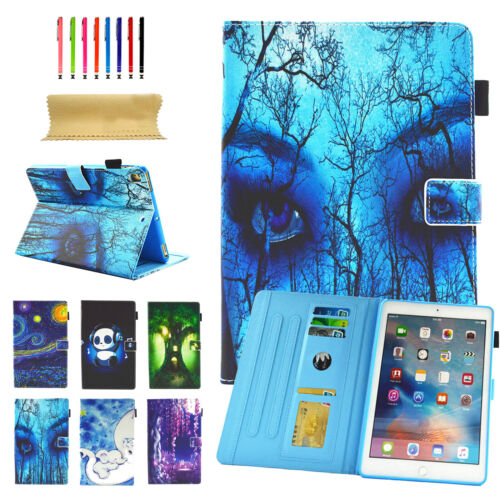 """Pattern Card Slot Wallet Stand Leather Cover Case For Amazon Kindle Fire 7""""/HD8"""
