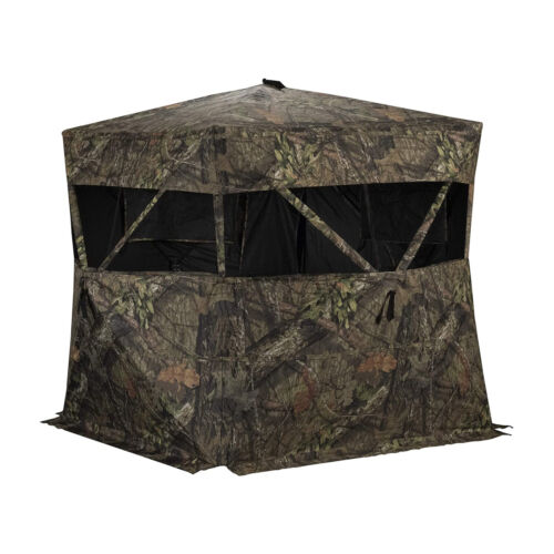 Rhino Blinds R150-MOC Durable 3 Person Outside Hunting Ground Blind, Mossy OakBlinds - 177910