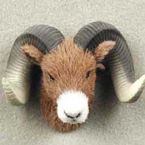 ONE BIG HORN SHEEP FURLIKE ANIMAL MAGNETS! (Handcrafted & Hand painted).