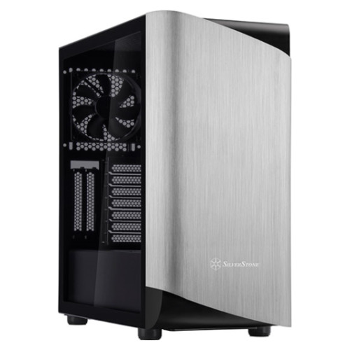 NEW SilverStone SETA A1 Titanium Mid Tower Case w/Tempered Glass Side Panel SST-