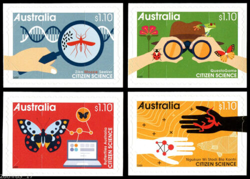 2020 Citizen Science - Set of 4 Self Adhesive Booklet Stamps - MUH