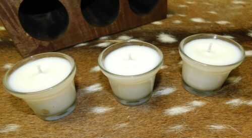 6 Replacement Sugar Mold Candle Holder Primitive Clear Glass Votive Candles