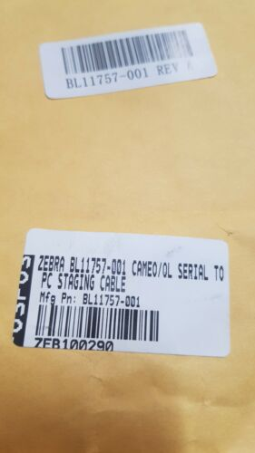 Genuine Zebra Interface Cable for QL ENC and Cameo BL11757001 RS232 New See Pics