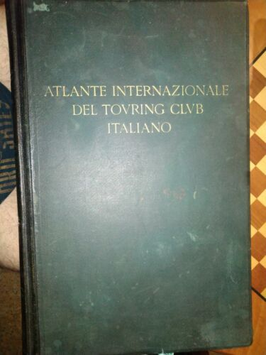 Atlante internazionale del Touring Club Italiano 1928