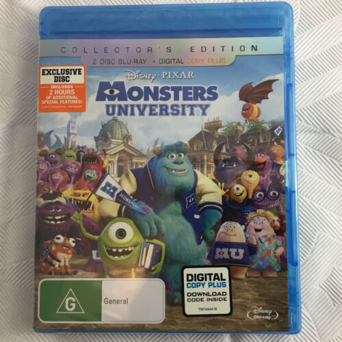 Disney Pixar Monsters University Blu-Ray Region Free Collectors Ed NEW SEALED