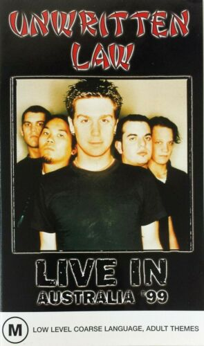UNWRITTEN LAW Live in Australia '99 PAL VHS Video PROMO ONLY RARE