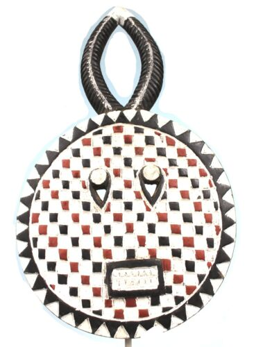Art African Arts Wovens - Mask Goli IN Chequered - Cote D'Ivoire - 51,5 CMS