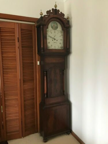 Antique Mahogany Grandfather Clock