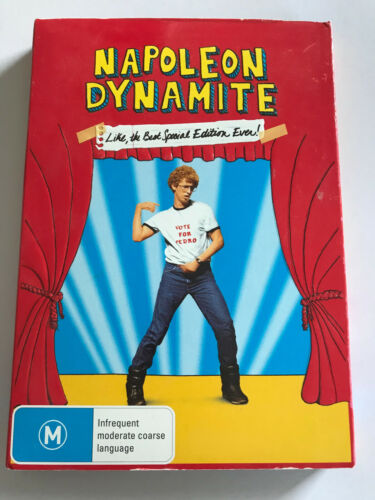 DVD R4 Movie Film - Napoleon Dynamite Cased Special Edition Ebossed 2disc