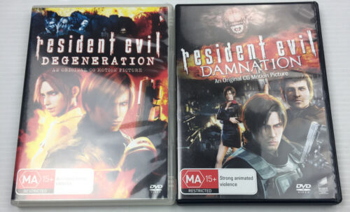 Resident Evil Degeneration & Damnation, DVD, PAL R4 MA15+ with Tracking