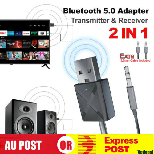 5.0 Receiver Audio USB Bluetooth Transmitter Adapter For TV/PC Headphone Speaker