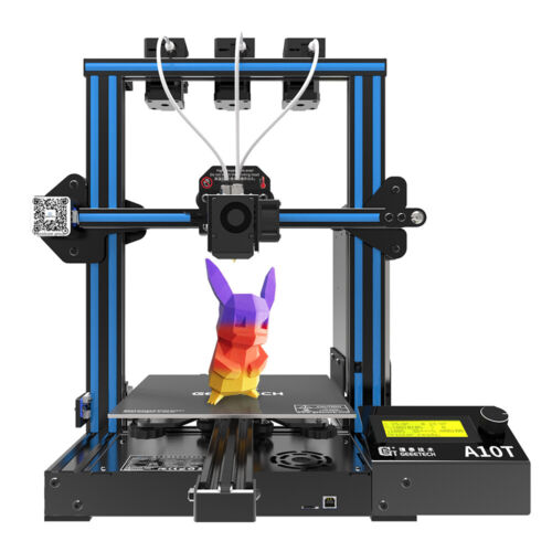 US Geeetech 3D Printer Triple Extruders 3 in 1 out A10T Support Auto level