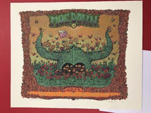 MOE. CONCERT POSTER MOEDOWN 15 IV MARQ SPUSTA PINK & CREAM EDITION OF 6 TURIN NY