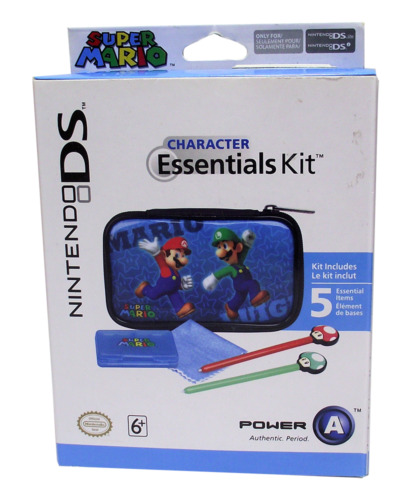 Official Nintendo DS & DSi Character Essentials Kit Super Mario Blue *Sealed*