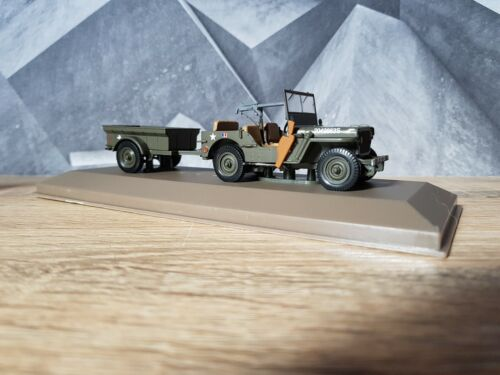 """VOITURE MILITAIRE """"JEEP WILLYS"""" MB 1/43 2690001 COLLECTION"""